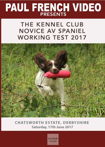 2017 Kennel Club Novice AV Spaniel Working Test